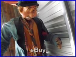 RARE VINTAGE Store Display Amusement Park Animatronic Hobo Clown and Bear