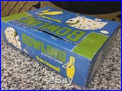 RARE Vintage 1960s Ladies Bowling Pin Rain Bonnet Key Chains Full 48 Display Box