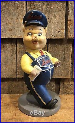 RARE Vintage Original JORDANS Meats Maine Pig Store Display Advertising Sign