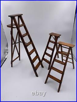 RARE Vintage Salesman Sample kit 10 Ladders, mechanisms, original case, more
