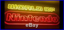 RARE Vintage World of Nintendo Superbrite NES M36R lighted store display sign