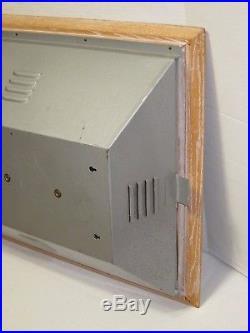 RARE Vtg 1960s Garrard Record Player Vinyl Turntable Store Display Light Up Sign