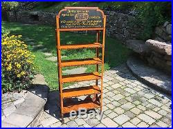 RARE Whiz Auto Products Vintage Metal Sign Advertising Shelf Store Display Rack