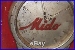ROBOT MIDO ROBI WATCH store advertising display trade sign vintage clock 1940's