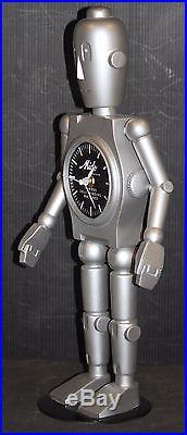 ROBOT MIDO WATCH store advertising display trade sign 17 large vintage clock