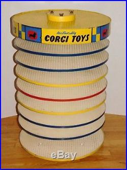 Rare 1960's Vtg CORGI Toys Revolving Carousel Counter Store Display Die-Cast Car