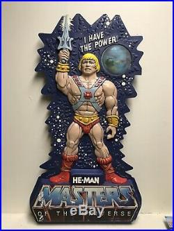 Rare 1982 Vintage MOTU He-Man Toy Store Display 3 Sign