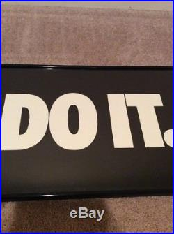 Rare 90's vtg NIKE JUST DO IT Advertising Poster 36 X 12 store display