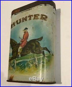 Rare Antique Vintage Hunter Tobacco Cigar Store Tin Store Display