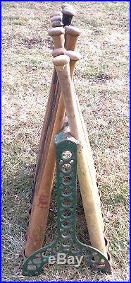 Rare Antique Vtg 1890s 1900 TOC Cast Iron 18 Baseball Bat Rack Store Display