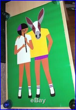Rare Orig. Vtg Poster FREDUN SHAPUR for CREATIVE PLAYTHINGS 1971 MCM