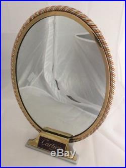 Rare Vintage Classic Cartier Paris Mirror Rose Gold Bronze Silver France