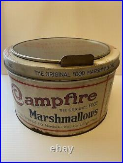 Rare Vintage General Store Countertop Campfire Marshmallow Tin Display