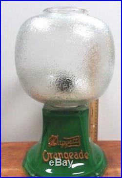Rare Vintage Glass Daggett's Orangeade Soda Fountain Dispenser Store Display