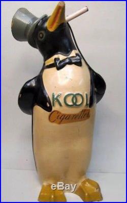 Rare Vintage Kool Penguin Cigarettes Store Display Figure 14 Tall