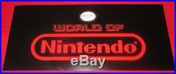 Rare Vintage NOS WORLD OF NINTENDO Store Display Sign