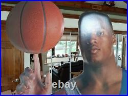 Rare Vintage Nike Bo Knows Life Size Cardboard Store Display Jackson w basketbal
