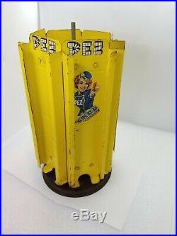 Rare Vintage Pez Carousel Store Display Tin Metal