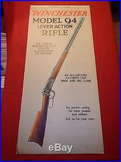 Rare Winchester Store 5 Panel Window Sign Display Rifles Ammunition Flashlights