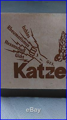 Rare, vintage medical advertising figure Katzenfelle, display, countertop, mannequin