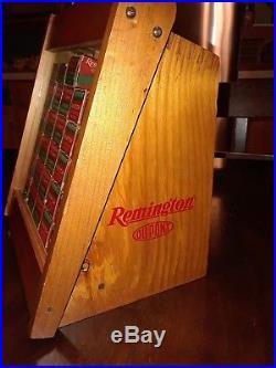 Remington ORIGINAL VINTAGE 22 ammo display Box store counter Dispenser