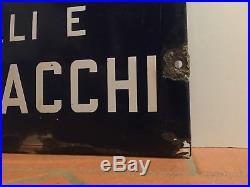 SALI E TABACCHI Tabella SMALTATA Targa Insegna BLU STATO N 20 Vintage Sign