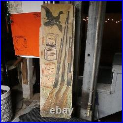 Scarce Winchester store cardboard display poster sign rare old vintage model 42