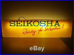 Seikosha Vintage Display Sign Seiko Watch Rare Collectible Used Condition