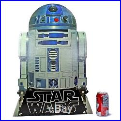 Star Wars R2-D2 and DEATH STAR Hang-up Music Store Display Vintage 1977 RARE HTF