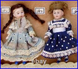 Store Display Box 10 Hertwig German Bisque head Dolls