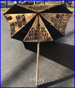 Super COOL Vintage Clothing Store Portland Lewiston Maine Advertising Umbrella