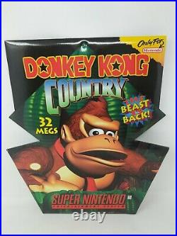 Super Nintendo SNES Donkey Kong Country Store Display Promo Standee Sign VTG