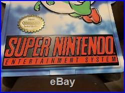 Super Nintendo SNES Sign Display Store Super Mario World Vintage New Rare