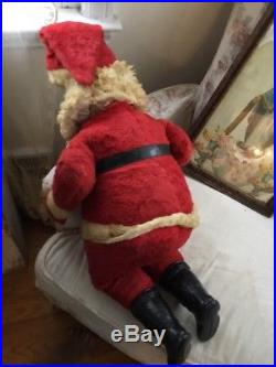 the cutest vintage stuffed plush santa claus big eyes flirty store display 36 - Stuffed Santa Claus