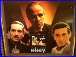 The Godfather Epic Vintage Light Box Video Store Display, Brando, Pacino