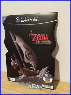 The Legend of Zelda Wind Waker Store Display Standee Promo Nintendo Gamecube VTG