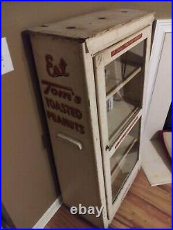 Tom's Toasted Peanuts Display Cabinet Vintage 1940's 1950's Country Store