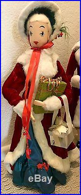 VINTAGE 1940-50s DEPT STORE CHRISTMAS CAROLER'S DISPLAY Charles Dickens Style