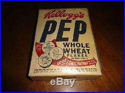 Vintage 1946 Kelloggs Pep Cereal Box Superman And The Pirates Comic On Back