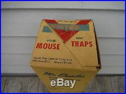 Vintage 1946 Victor Mouse Trap 1/2 Gross General Store Display Sign With Traps