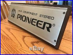 VINTAGE 1980s PIONEER HI-FI COMPONENT STEREO STORE DISPLAY SIGN
