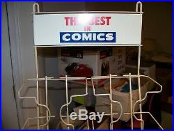 VINTAGE COMIC BOOK RACK non spinner Metal Store Display BEST Marvel DC Comics