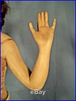 VINTAGE EARLY 20th C. TABLE TOP FLEXEES GIRDLE DISPLAY ADVERTISING MANNEQUIN