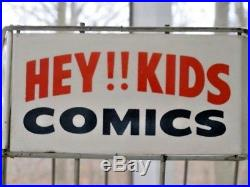 VINTAGE HEY KIDS! COMIC BOOK STAND RACK SPINNER STORE DISPLAY 1960s