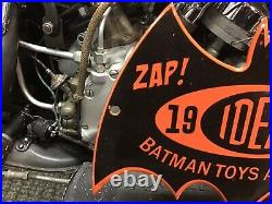 VINTAGE PORCELAIN 1966 IDEAL BATMAN TOYS ARE HERE DISPLAY SIGN Toy Store