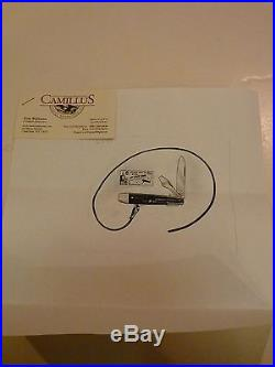 Vintage & Rare Camillus Countertop Store Display Jet Space Knifes Nos Complete