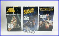 VINTAGE STAR WARS 1988 CBS Fox VHS Video Store Display with SEALED Tapes