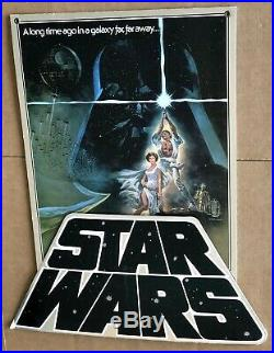 VINTAGE Vader STAR WARS Movie 3D Video STORE DISPLAY Luke Skywalker STANDEE AFA