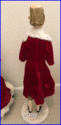 VNTG SET 4 1940-50s DEPT STORE CHRISTMAS CAROLER'S DISPLAY Charles Dickens Style