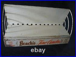 VTG BRACH'S FINE CANDIES METAL SHELF STORE DISPLAY ADVERTISING CANDY RACK 1930's